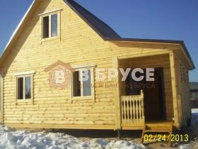 готовый домик из бруса 72 кв.м