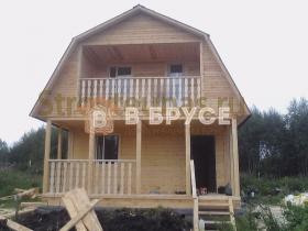 этапы строительства дома 8х6 из бруса