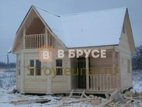 этапы строительства брусового дома 7х7