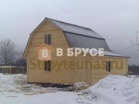готовый дом из бруса 8х8 с мансардой