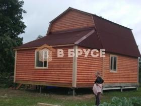 Дачный дом 6х9 с верандой + мансарда фото