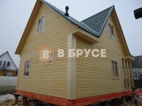 фото дома из клееного бруса 6х8