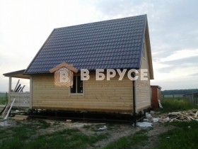 готовый деревянный дом 6х9 из сухого бруса
