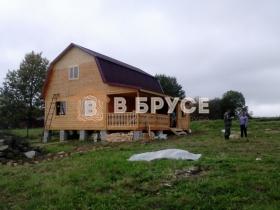 фото готового дома из бруса