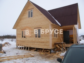 окончание работ по строительству деревянного дома