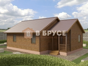 одноэтажный дом из бруса на фото