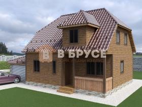 дом с полувальмовой и комбинированной крышей