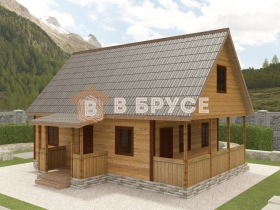 фото каркасного дома с мансардой 100 кв.м