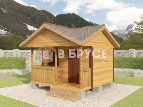 баня с двухскатной крышей