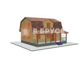общий вид издалека на дом с большой террасой