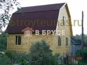 проект загородного дома из бруса с мансардой
