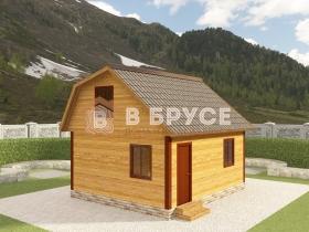 фото домика с мансардой 5х6