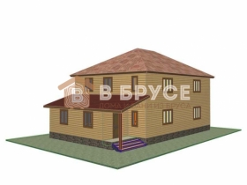 Общий вид уютного дома с двумя этажами