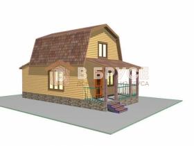 Дом 5х10 из бруса с мансардой
