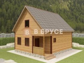 фото большого дома из профилированного бруса