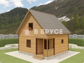 фото дома из клееного бруса 6х6,5