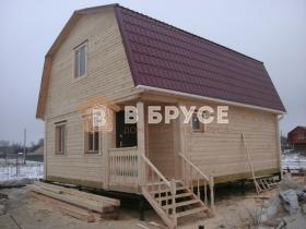 готовый двухэтажный дом из дерева