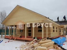 строительство сруба для жилого дома из бруса