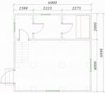 планировка двухэтажного проекта бани