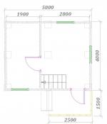 планировка первого этажа 5,5х5