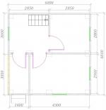 план первого этажа 6х6