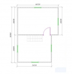 планировка мансарды второго этажа брусового дома