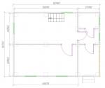 план дома 6х8