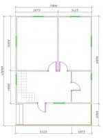 планировка первого этажа 9х7