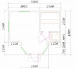 планировка красивой одноэтажной бани