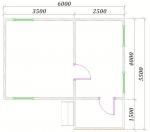 планировка дома 6х5,5