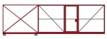 откатные ворота длиной 5,3 м