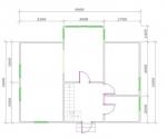 планировка первого этажа 9х72