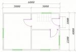 план первого этажа 6х4