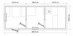 план перевозной бани из бруса 2.3х6м №1203