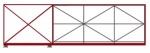 откатные ворота длиной 6,3 м