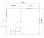 план первого этажа 4х5