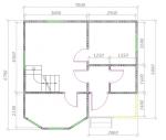 план 1 этаж 7х7