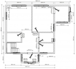 планировка 1 этажа каркасного дома