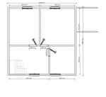 планировка 2 этажа дома по каркасной технологии