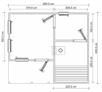 план бани 1 этаж из бруса