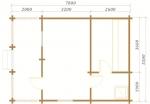 планировка одноэтажной бани 5,5х7,8