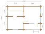 планировка одноэтажной бревенчатой бани