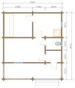 планировка первого этажа у бани