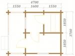 план красивой бани с одним этажом