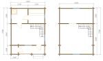 Планировка этажей а брусовой бане