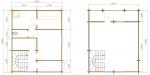 планировка двух этажей в бане