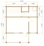 планировка одного этажа в брусовой бане