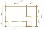 планировка одноэтажной бани из оцилиндрованного бревна