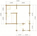 план небольшой бани 5,4х5,7