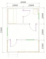 план первого этажа бани